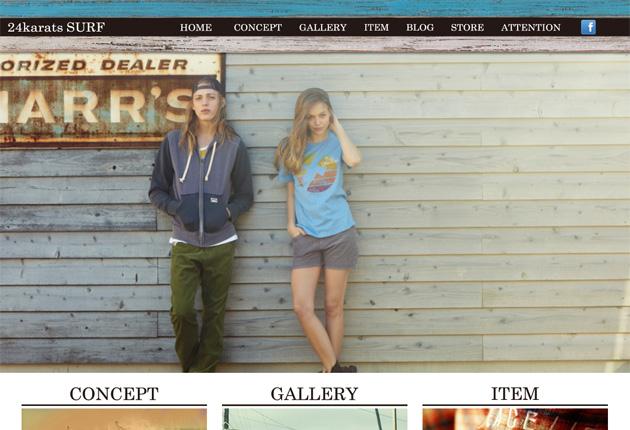 24karatsSURF オフィシャルブランドサイトのイメージ