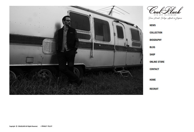COALBLACK オフィシャルブランドサイトのイメージ