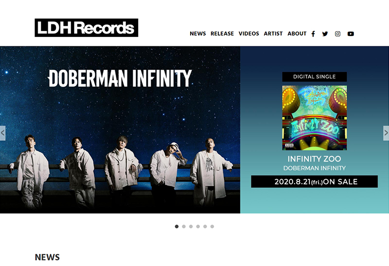 LDH Records OFFICIAL SITEのイメージ